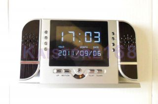 SPY Hidden Multi function IR Clock Camera Motion Detection Mini DVR