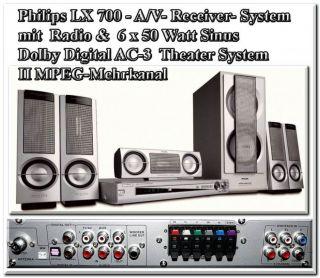 Philips LX700 Heimkino AV Receiver Radio 6 x 50 Watt RMS AC 3 DTS MPEG