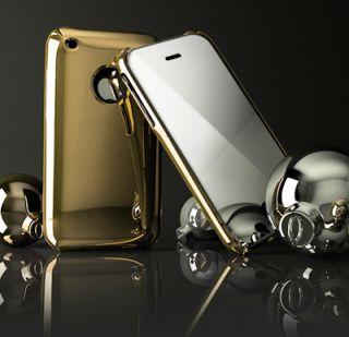 EDEL   Apple iPhone 3GS 3G Case Cover Hülle Schutzhülle GOLD
