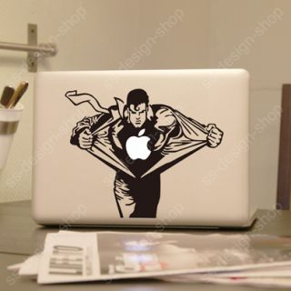Superman Heroes Vinyl Decal Sticker Skin for Apple MacBook Pro Unibody