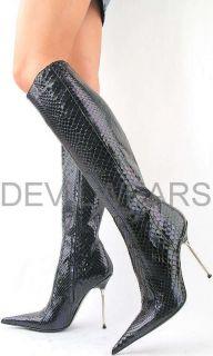 Italian Designer Boots 1 499 00 Genuine Snake Skin EU 38 Shoes