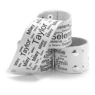 niki orange® El Nombre Leder Graviert Armband Gravur