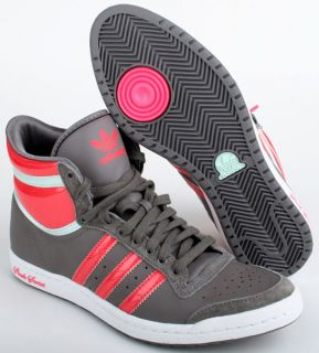 Adidas Schuhe Top Ten Hi Sleek grau rot Gr. 36 2/3