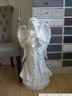 Engel betende Hände Shabby Chic Grabengel 80 cm Figur Deko Garten