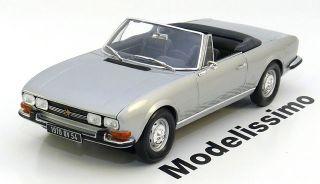 18 Norev Peugeot 504 convertible 1971 silver