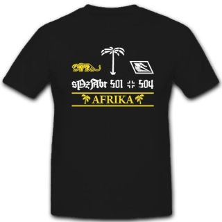 Afrikakorps sPzAbt 501 504 Tiger Panzer T Shirt *3280