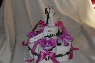 Hochzeit Toilettenpapier Torte Geldgeschenk + Rede lila