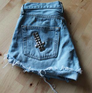 Vintage LEVIS 501 Jeans Shorts high waist Gr 36 38 Nieten BLOGGER