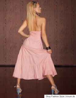 Maxikleid,Sommerkleid,Strandkleid,Neckholder Kleid,Altrosa,Pink,Gr.S,M