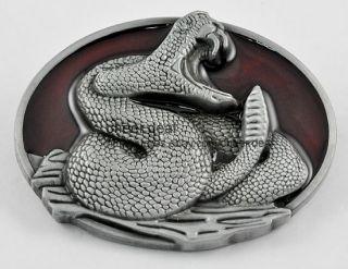 NEW Western Rattle Snake Python Rattlesnake Viper Cobra Mens Buckle