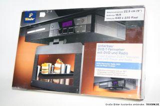 Tchibo 9 Unterbau DVB T Fernseher mit DVD und Radio