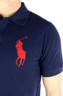 RALPH LAUREN Herren Polo Shirt Big Pony navy blau Men NEU Original OVP