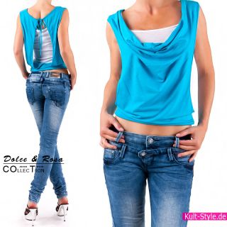 Sexy RÖHRENJEANS DAMEN Jeans Hose BLUE 32 40 NEU #527