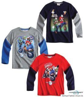 Nintendo WII Super Mario Luigi T Shirt Shirt Langarmshirt Gr,104 146