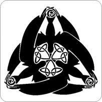Raben Triskele Auto Aufkleber Tattoo Sticker