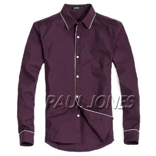 PAUL JONES Men's Casual Slim Stylish Dress Shirts Fit blouse US XS/S
