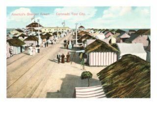 Coronado Tent City, San Diego, California Print