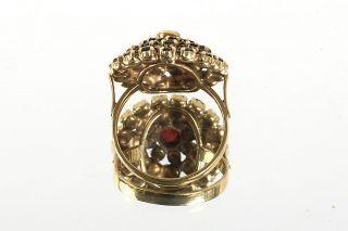 GELEGENHEIT AUS PRIVATBESITZ #533 ANTIKER RING GOLD 333 BÖHMISCHER