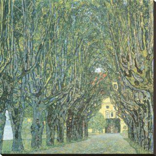 Avenue Before Room, Schlob Park, c.1912 Stretched Canvas Print by Gustav Klimt