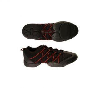 Bloch 524 Rot Red Schwarz Criss Cross Dance Sneaker Tanz Schuhe +NEU+