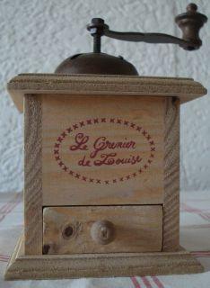 Landhaus Kaffeemühle Dose Box Holz natur rot Shabby Country Deko NEU