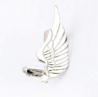 Stylish Womens Retro Gothic Silver Tone Angel Wing Cuff Earring Clip