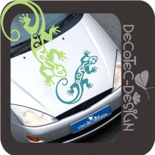 A554  Tribal Gecko Gekko Hawaii Auto Aufkleber SET