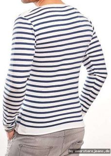 WASABI Shirt Pulli Weiß Navy Streifen Shirt Fashion Mode WSB JEANS GR