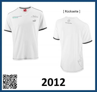 Original Mercedes AMG Petronas Formel 1 F1 T Shirt Schumacher 2012