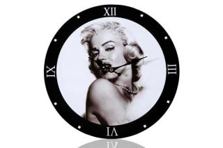 Wanduhr MARILYN MONROE 33cm Retro Uhr Hollywood Diva NEU