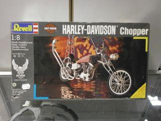 Revell Harley Davidson Chopper Motorrad Plastik Modellbausatz 1 8 mit