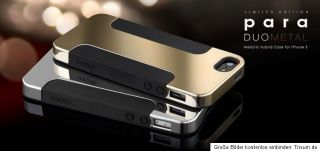 More Para Duo Metal Case iphone 5 Tasche Cover Schwarz Gold Neu & OVP