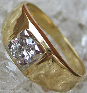 Brillant Schmuck Solitaer Halbkaraeter 14kt 585 Gold Ring Diamant 3280