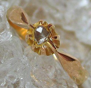 Antikringe Diamantringe 14kt 585 Gold Ring Artdecoring Diamant Rose