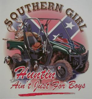 DIXIE SOUTHERN GIRLS HUNTING AINT JUST 4 REBEL SHIRT