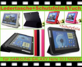 Leder Tasche Smart Cover Samsung Galaxy Note 10.1 N8000 N8010 Schutz