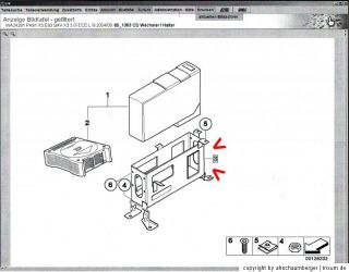 BMW Halter CD Wechsler Bildtafel Pos. #3 X3 E83 SAV + LCI 65906990216