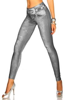 Sexy Jeans Print Leggings Jeanny, Größe XS L, NEUWARE