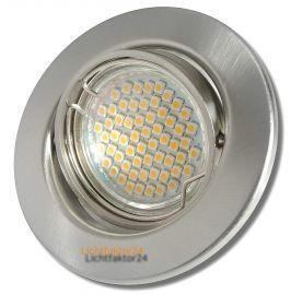 10er Sets SMD Einbaustrahler Tomas 230Volt Downlights 3W Power LED