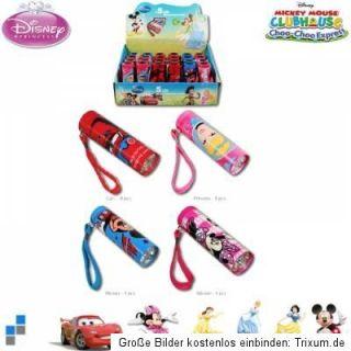 Taschenlampe für Kinder LED Disney – verschiedene Motive Alu   neu