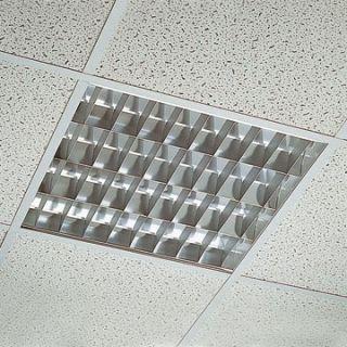 PLAFONIERA INCASSO neon LAMPADE luce per ufficio garage 4X18W BIANCO