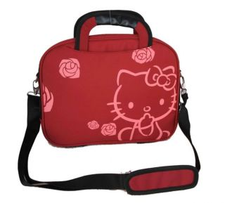 Neu Hello Kitty Notebook Laptop Tasche Bag 10 Rot