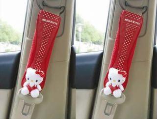 Hello Kitty Auto Gurtpolster Gurtschoner 2 Stück Rot