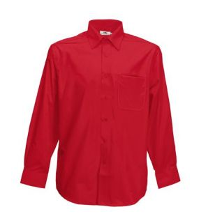 Poplin Hemd langarm Shirt Fruit of the Loom S   XXXL