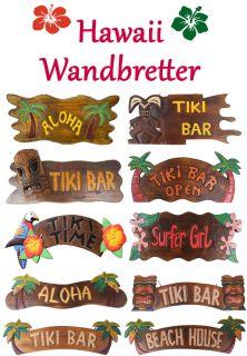 Hawaii Masken Tiki Aloha 50cm Bar Deko Schild Südsee Wandbrett