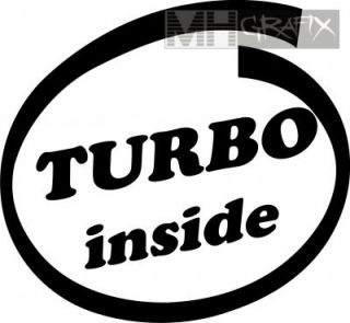 Aufkleber Turbo inside Sticker ++ 10cm