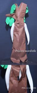 Xmas Brown Green Tree Funny Cosplay Costume Unsiex 2 7Y