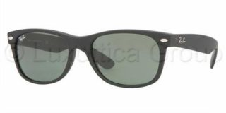 Ray Ban Sonnenbrille RB 2132 Black Rubber/Crystal Green