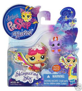 Littlest Pet Shop FAIRIES SHIMMERING SKY RAIN PRISM & BAT #2712 #2713