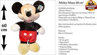 Mickey o. Minnie Mouse Plüsch 60 cm Plüschtier Stofftier Kuscheltier